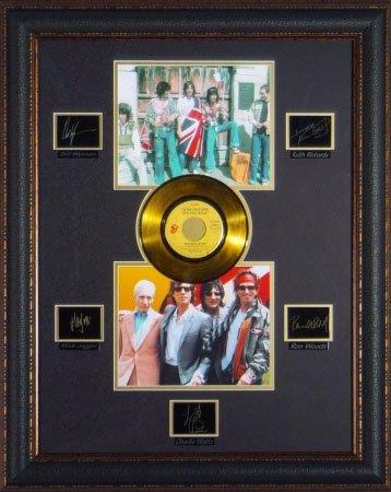 Коллаж с автографами музыкантов The Rolling Stones