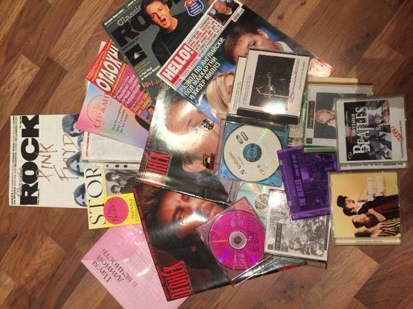 Журналы, диски, видеокассеты