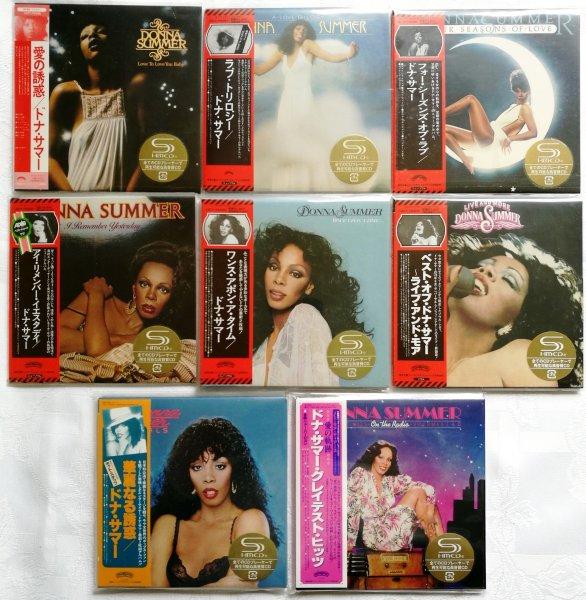DONNA SUMMER. Полный сет из 8 альбомов (9 CD) в SHM-формате на японском мини-виниле. Изд. 2012 г.