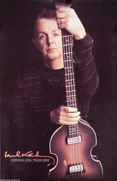 Продам оригинальную афишу Paul McCartney Driving USA Tour