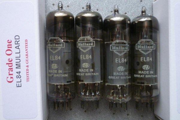Лампы Mullard EL84,RCA ecc83, ecc82,ECC88, EF86, EZ90, GZ34