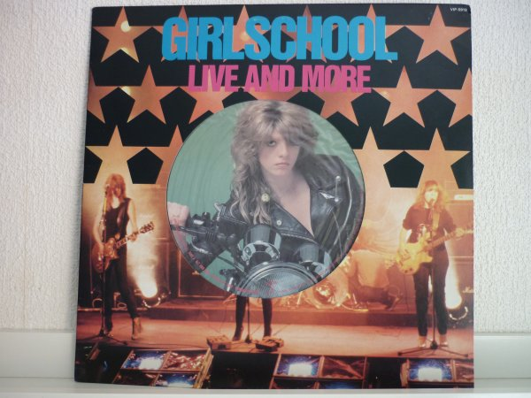 GIRLSCHOOL - LIVE AND MORE 1982 JAPAN LP (feat. MOTORHEAD)