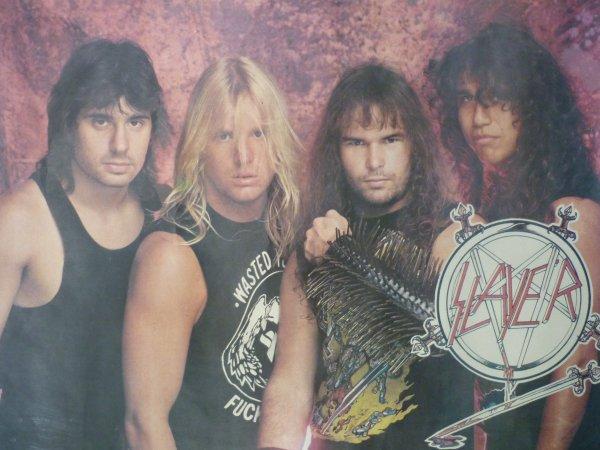 SLAYER - POSTER (ПЛАКАТ) 1984-1985 РАРИТЕТ!