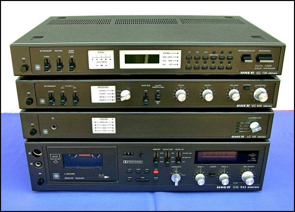 UHER LG-130, VG-830, EG-730, CG-343. Аудиостойка, 4 компонента.