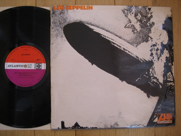 LED ZEPPELIN - I  UK LP WARNER CREDIT  EX/EX