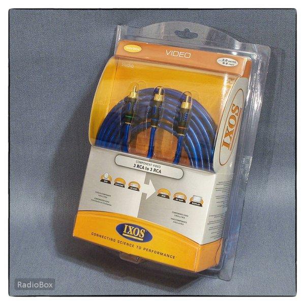 Кабель Hi-Fi IXOS 3RCA-3RCA (New)