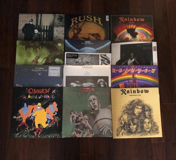 Виниловые пластинки(RAINBOW, QUEEN, RUSH, YES...)