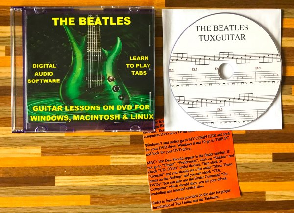 CD Beatles 483 Guitar Tabs Software Lesson, 82 Backing