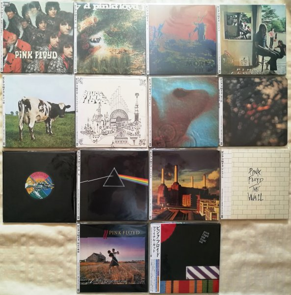 PINK FLOYD - Комплект из 14 альбомов (16 CDs). 1-е издание. JAPAN MINI LP