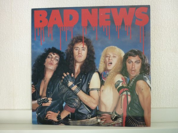 BAD NEWS - 1987 LP JAPAN PROMO MINT produced BRIAN MAY (QUEEN) ! RARE !