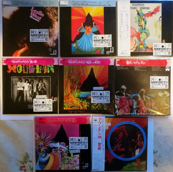 MOUNTAIN. Полный сет из 8 альбомов (9 СD) на японском МИНИ-ВИНИЛЕ