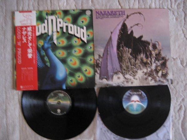 NAZARETH 2 ORIG UK,JP LP 1973,1974 INS, OBI EX/EX