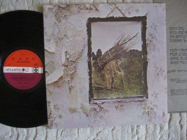 LED ZEPPELIN - IV  UK ORIG LP INS NM/NM (A3-B4)