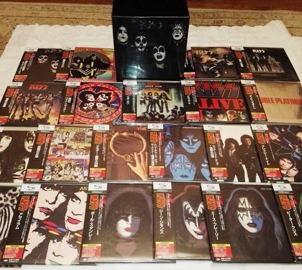 KISS. Полный комплект (21 альбом) на ЯПОНСКОМ МИНИ ВИНИЛЕ + Promo BOX