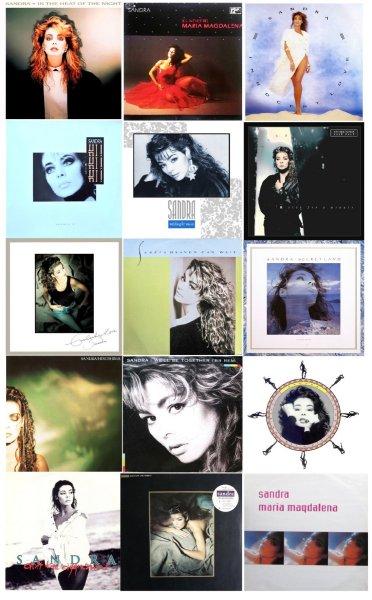 S-I-N-G-L-E-S ★SANDRA 15 Немецких и Английских синглов (`12, 45 RPM)◄★MEGA☆