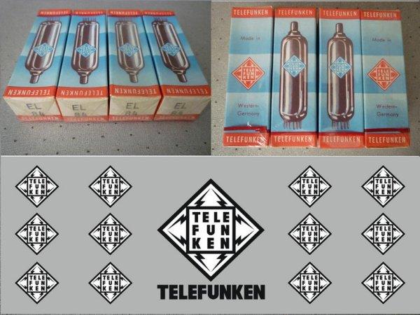 Лампы Mullard, Telefunken EL84, RCA ecc83, ecc82, ecc88, EF86, EZ90