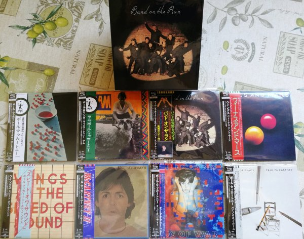 PAUL McCARTNEY. Комплект 8 SHM-CDs на ЯПОНСКОМ МИНИ-ВИНИЛE+ Promo BOX (DU)