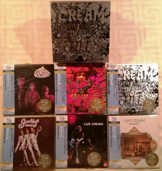 CREAM. 6 JAPAN MINI-VINYL SHM-CD-set + Promo BOX (Disc Union)