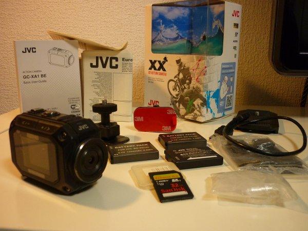 JVC ADIXXION GC-XA1 ЭКШН КАМЕРА(полный комплект)+ 2 аккум.+ карта SanDisk