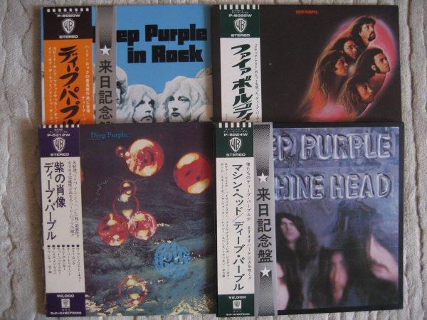 DEEP PURPLE 4 JP ORIG LP 1970,71,72,73 PROMO INS OBI NM/NM