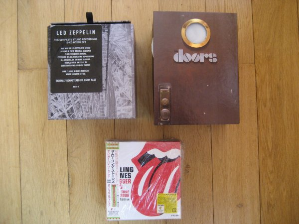 3 CD BOX: THE ROLLING STONES, THE DOORS, LED ZEPPELIN N/N ALL INS