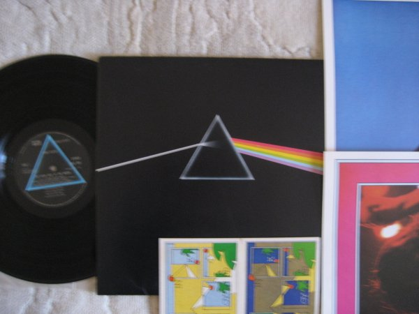 PINK FLOYD - THE DARK SIDE OF THE MOON UK LP A6-B4 ALL INS NM/NM