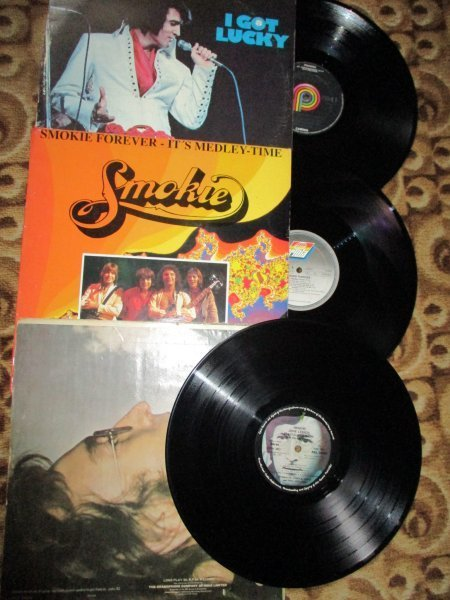 John Lennon, Smokie, Elvis - редкий фирменный винил 70-х годов