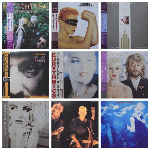 Полный комплект номерных альбомов Eurythmics (jpn pressing).