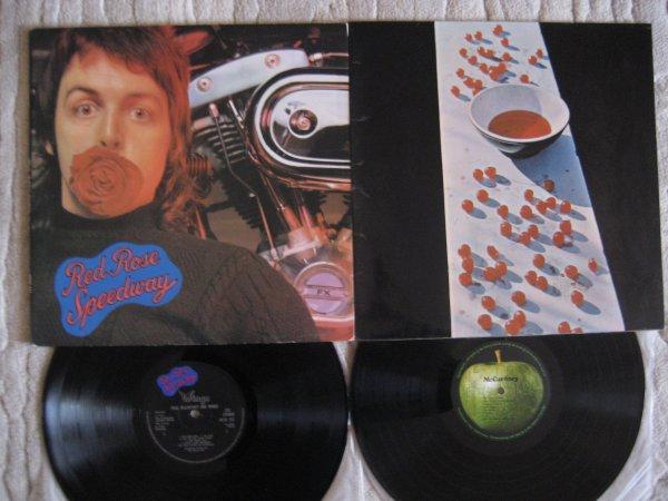 PAUL McCARTNEY 2 UK ORIG LP 1970,73 ALL INS NM/NM