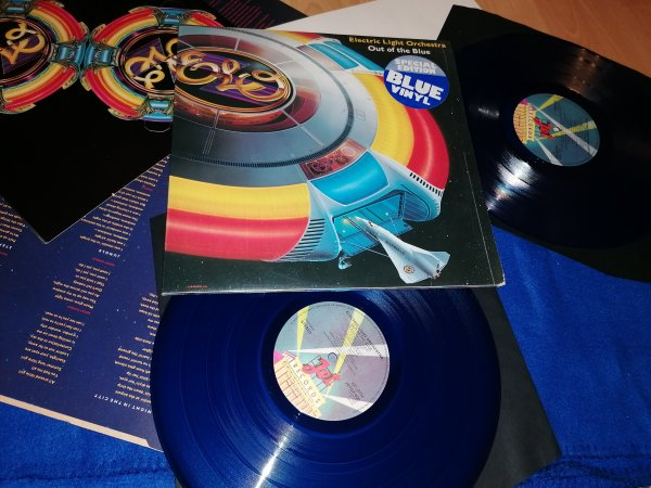 ELO(Out of The  Blue)UK 1st press/blue vinyl