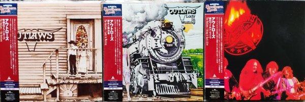 OUTLAWS - 3 студийных альбома в формате 24bit K2-CD на ЯПОНСКОМ МИНИ-ВИНИЛЕ