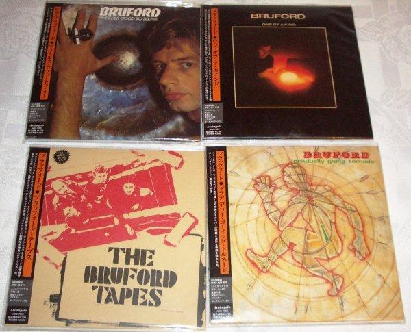 BILL BRUFORD. 4 сольных альбома на японском мини-виниле. MINT