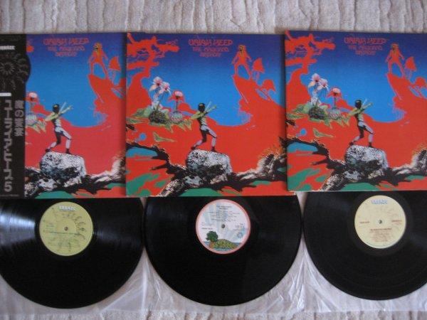 URIAH HEEP - THE MAGICIAN,S BIRTHDAY 3 ORIG LP UK, DAN, JP ALL INS NM/NM